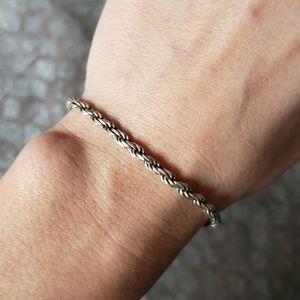Jewelry - Sterling silver rope tennis bracelet